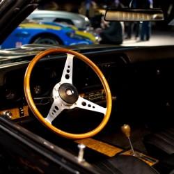 motorcars artcurial 2011, pontiac 1967 firebird noire, intérieur bois et cuir