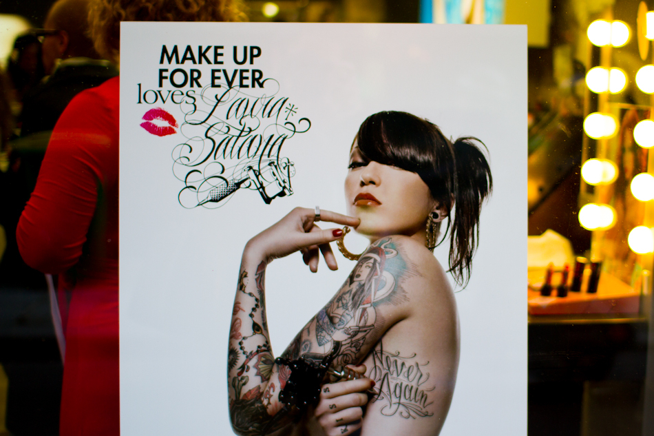 laura satana exxxotic tattoos collaboration Make Up For Ever