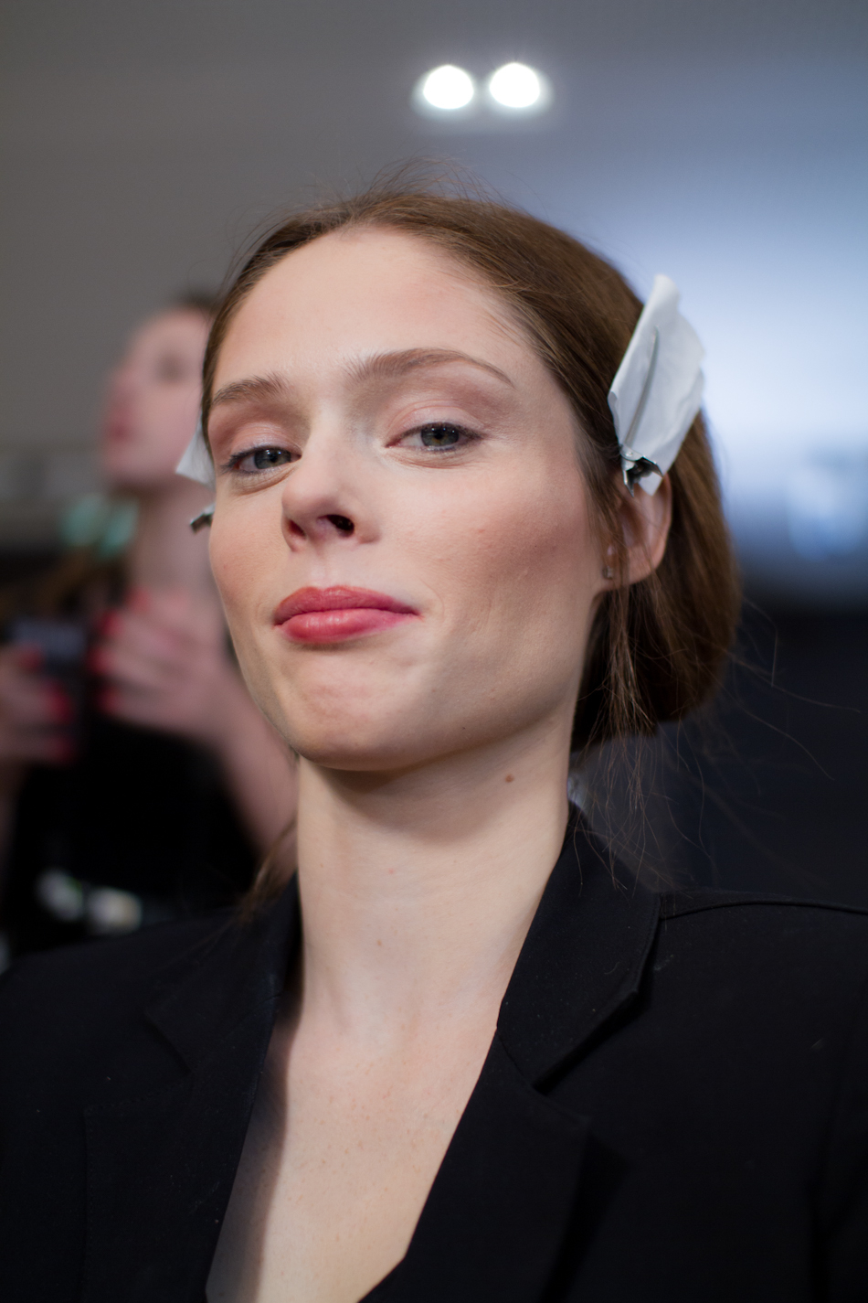 coco rocha at Paul & Joe AW 2012/2013 backstages