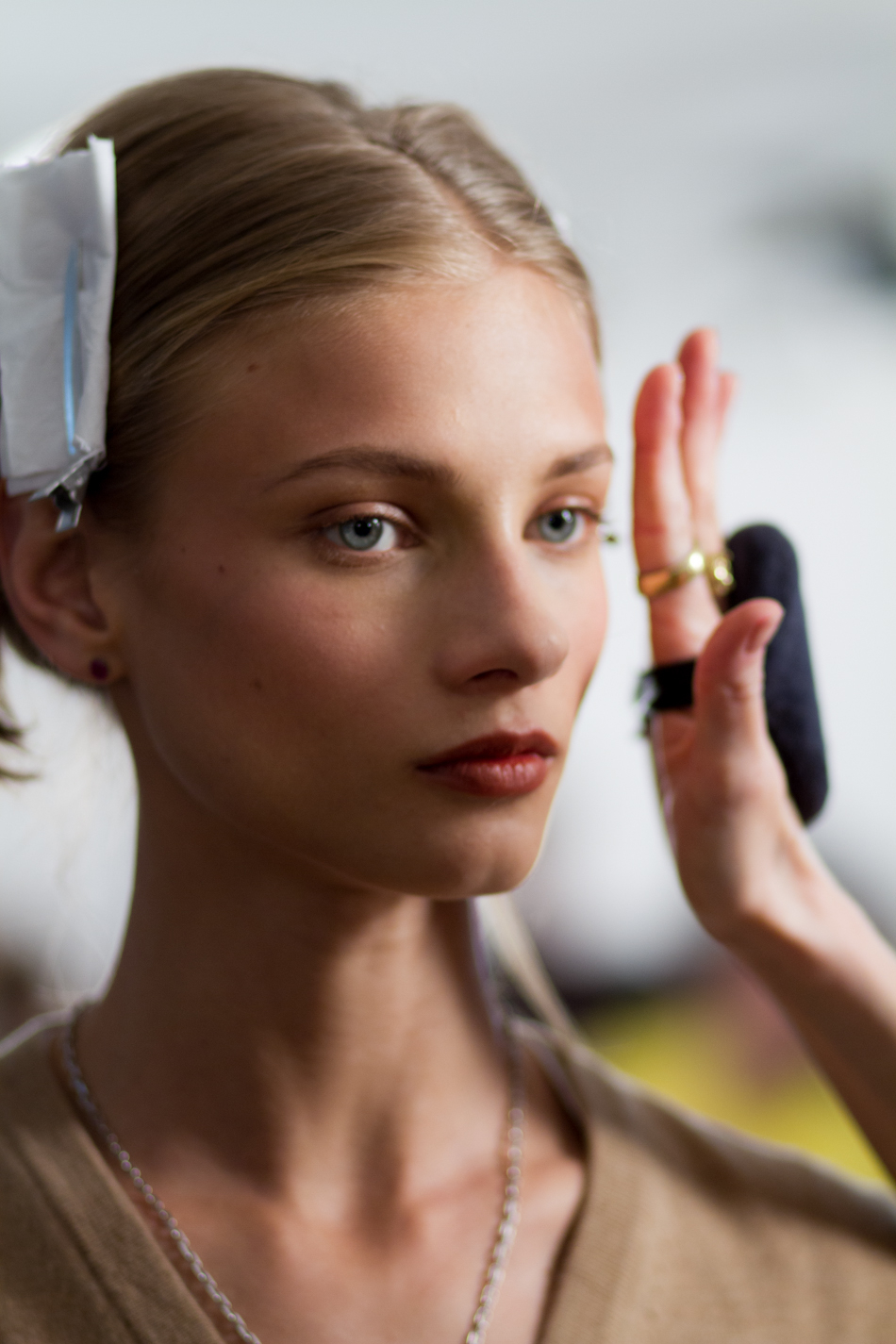 Anna Selezneva at Paul & Joe AW 2012/2013 backstages