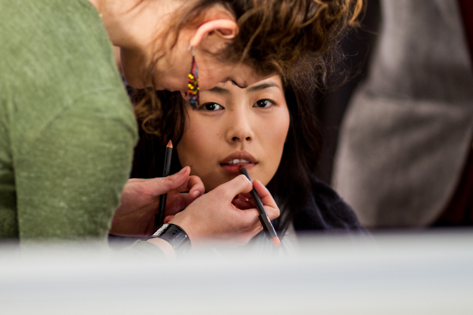 liu wen at Paul & Joe AW 2012/2013 backstages