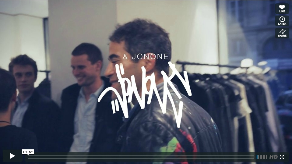 JonOne for Paris Brand IRO For The Vogue Fashion Night Out video by LAurent Belando et Nicolas Brulez