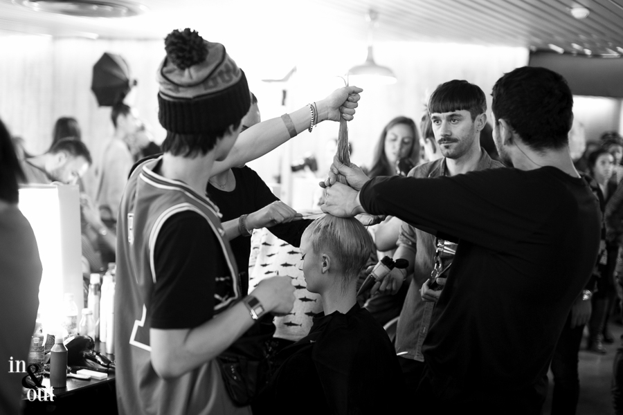 Jean Paul Gaultier Rosbif in spaces backstages